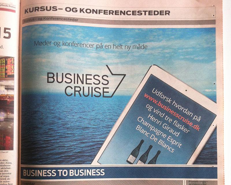 JP Ervhverv & Økonomi annonce for Business Cruise